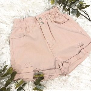 Pants - Vintage Wash Denim shorts